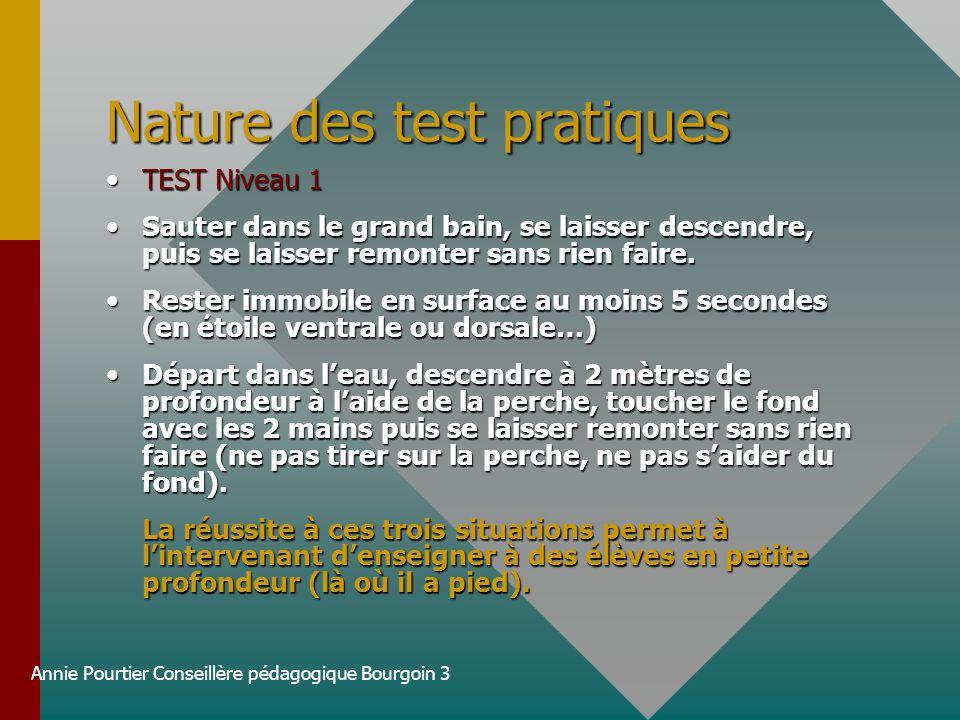 Nature des test pratiques
