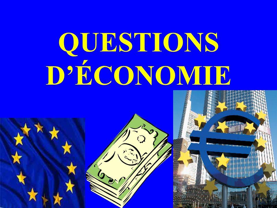 QUESTIONS D'ÉCONOMIE