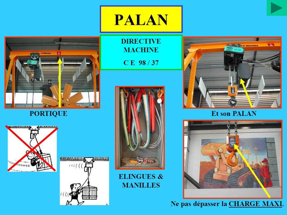 PALAN DIRECTIVE MACHINE C E 98 / 37 PORTIQUE Et son PALAN