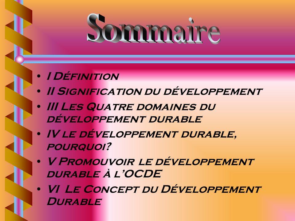 II Signification du développement