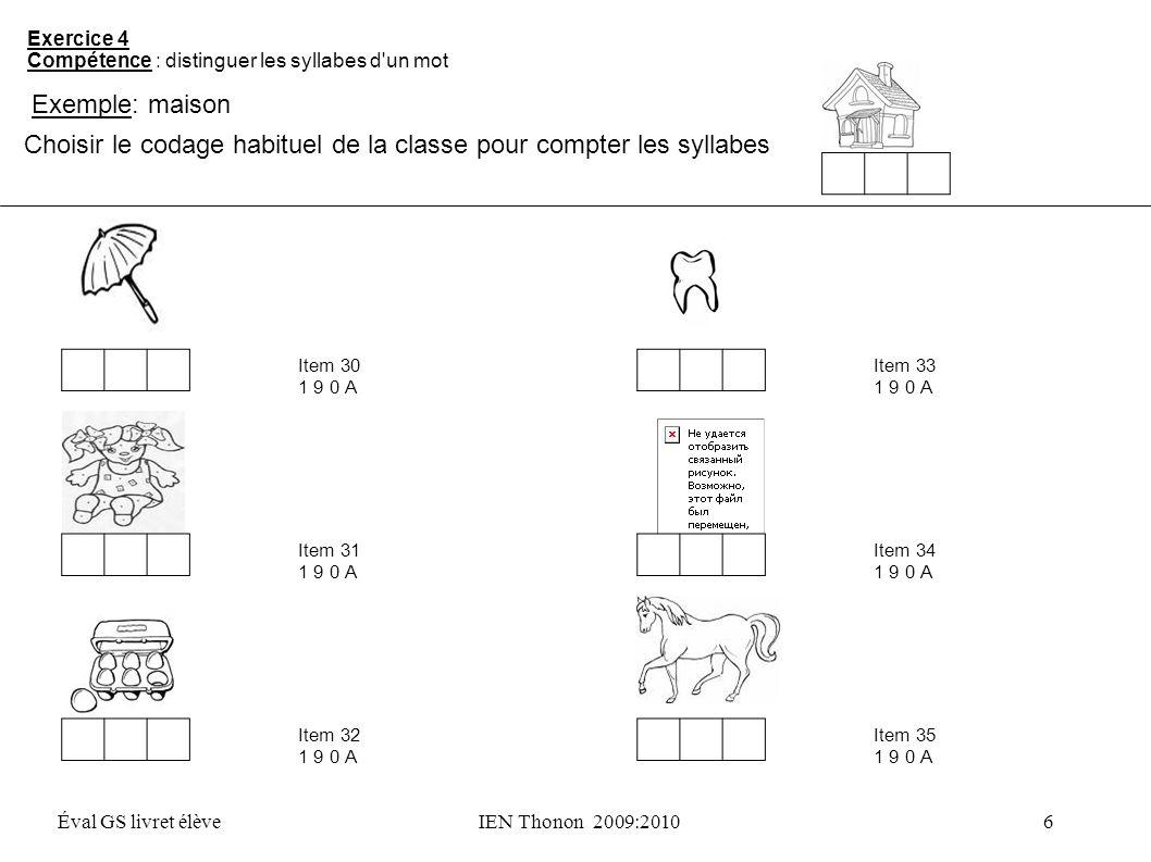 Choisir le codage habituel de la classe pour compter les syllabes