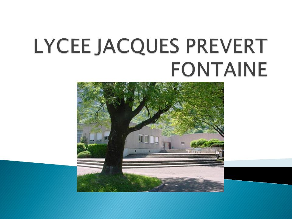 LYCEE JACQUES PREVERT FONTAINE