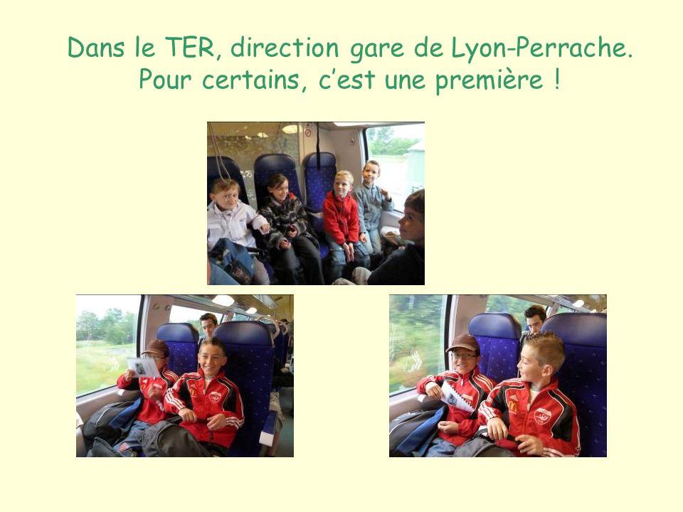 Dans le TER, direction gare de Lyon-Perrache