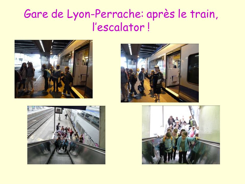 Gare de Lyon-Perrache: après le train, l'escalator !