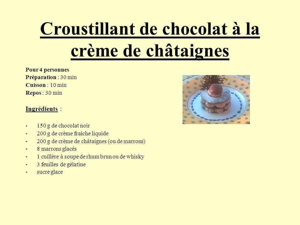 Croustillant de chocolat à la crème de châtaignes