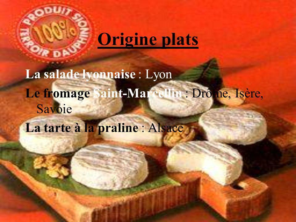Origine plats La salade lyonnaise : Lyon