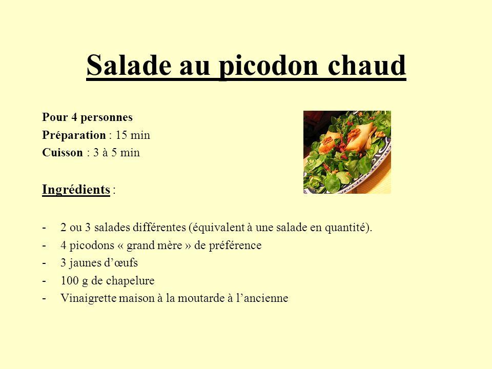 Salade au picodon chaud