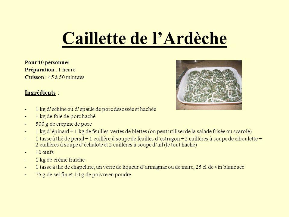 Caillette de l'Ardèche