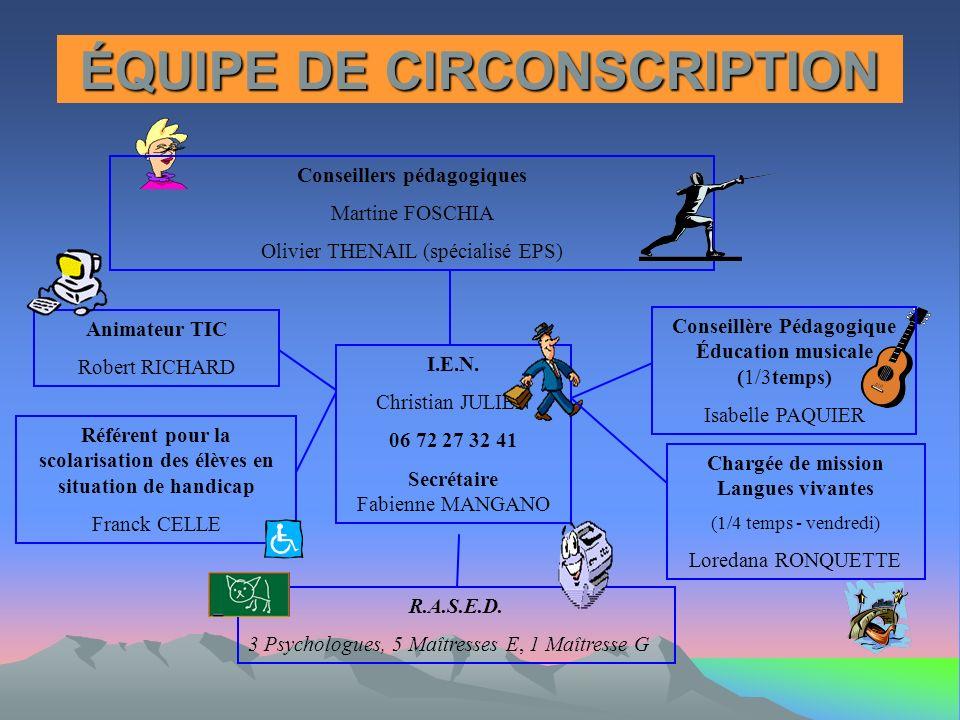ÉQUIPE DE CIRCONSCRIPTION