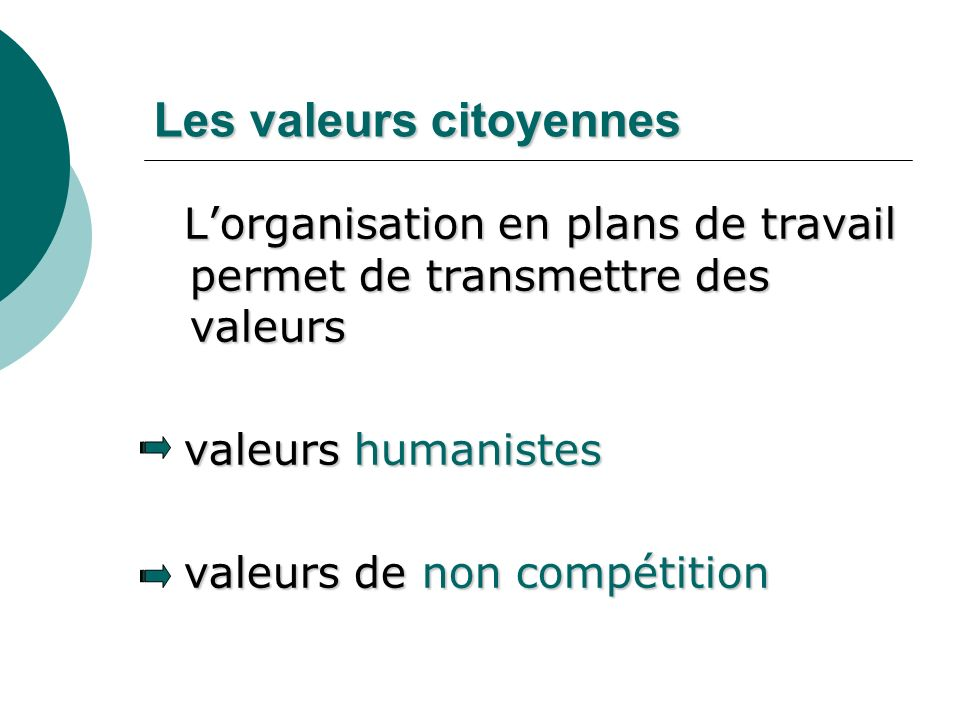 Les valeurs citoyennes