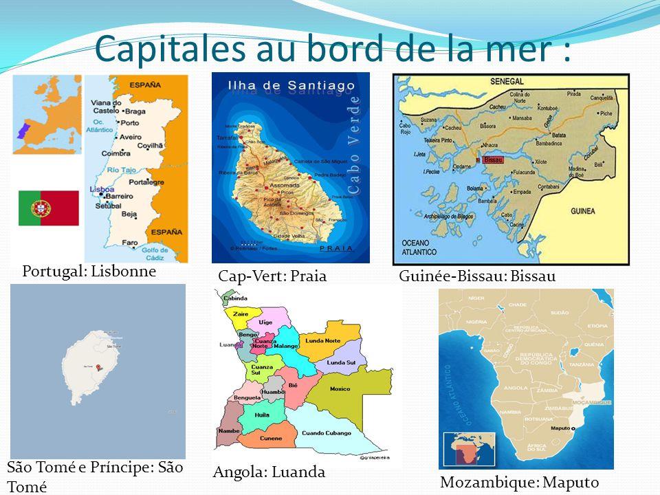 Capitales au bord de la mer :