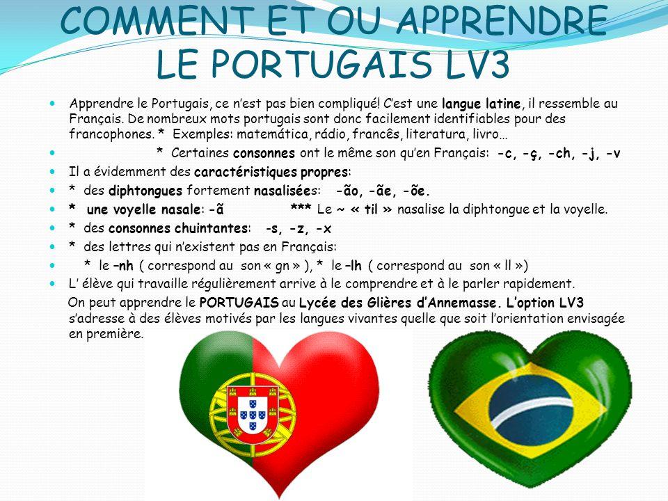 COMMENT ET OU APPRENDRE LE PORTUGAIS LV3