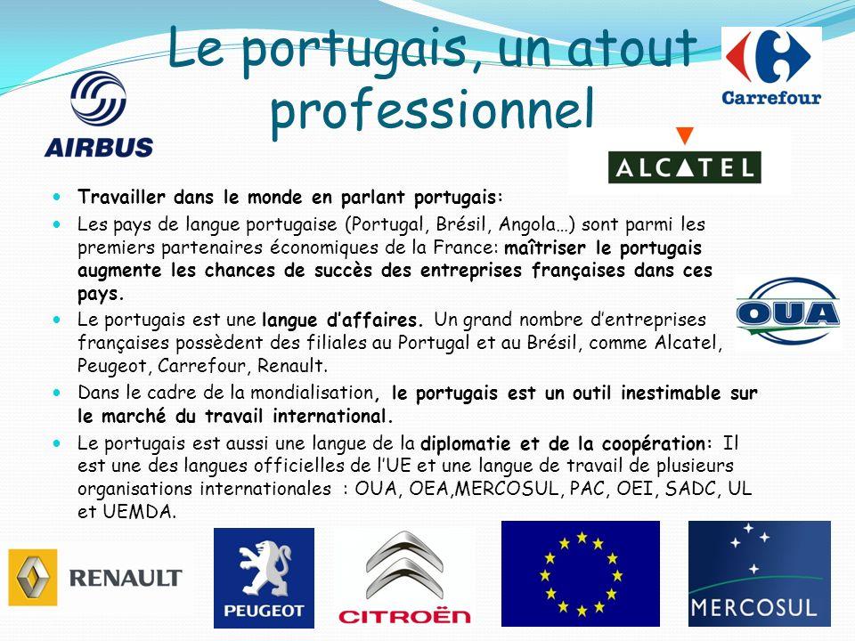 Le portugais, un atout professionnel
