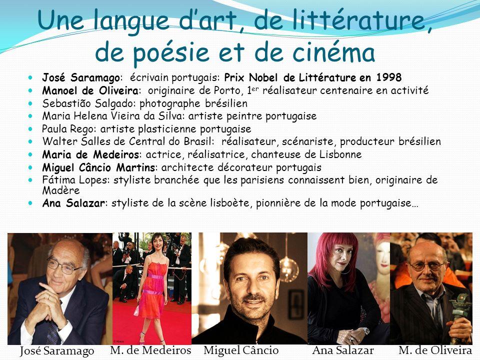 Une langue d'art, de littérature, de poésie et de cinéma