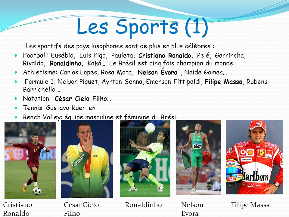 Les Sports (1) Cristiano Ronaldo César Cielo Filho Ronaldinho