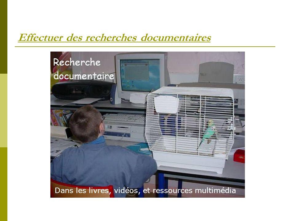 Effectuer des recherches documentaires
