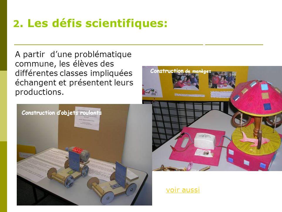 2. Les défis scientifiques:
