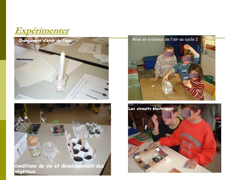 Expérimenter Changement d'état de l'eau Circuits électriques
