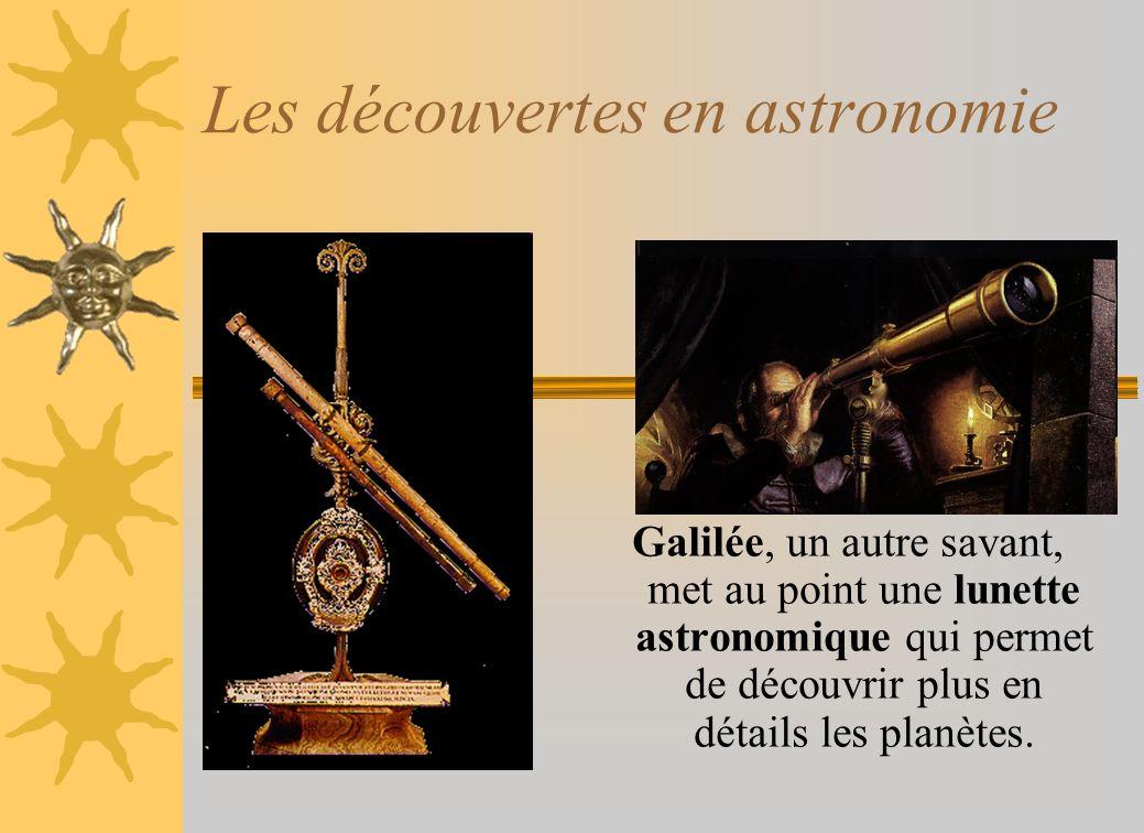 Les découvertes en astronomie
