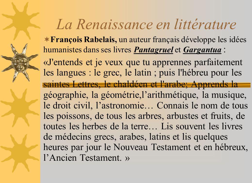 La Renaissance en littérature