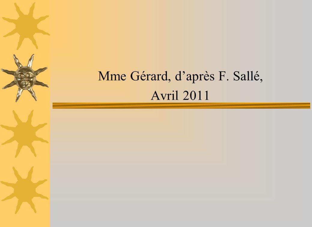 Mme Gérard, d'après F. Sallé,