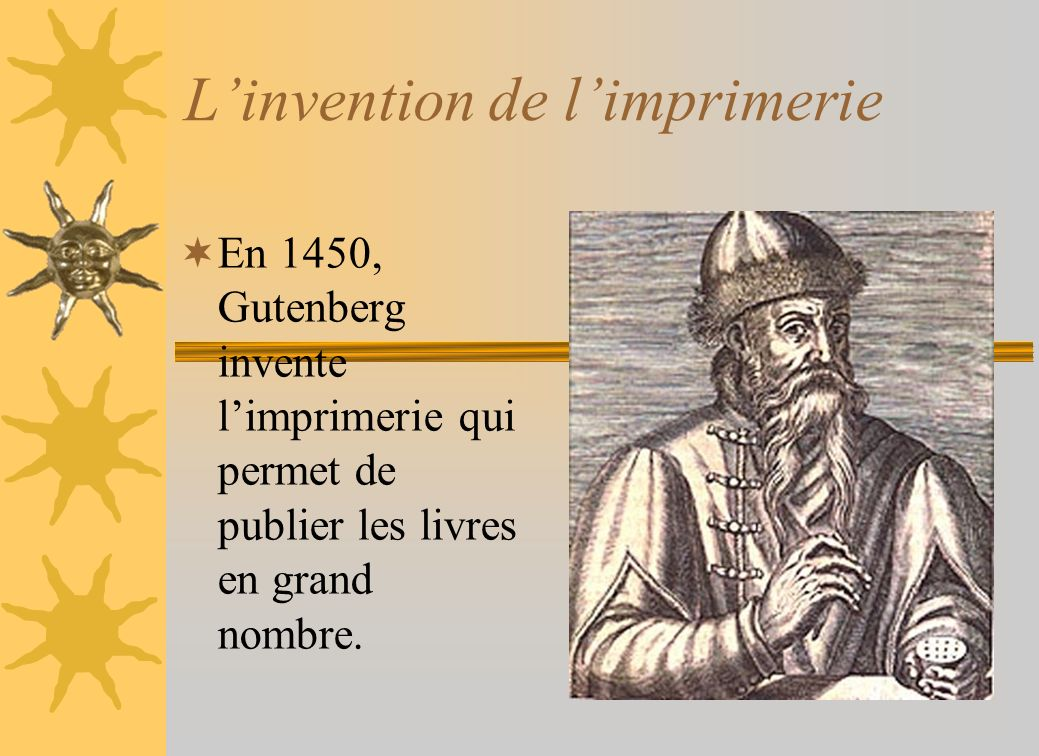 L'invention de l'imprimerie