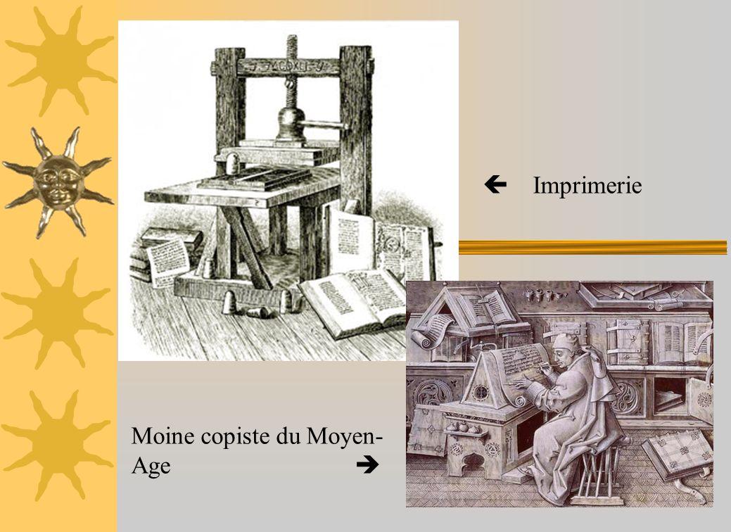  Imprimerie Moine copiste du Moyen-Age 
