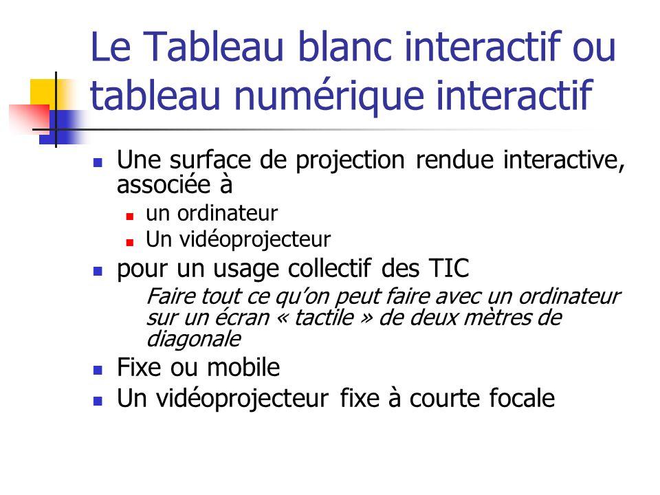 Le Tableau blanc interactif ou tableau numérique interactif