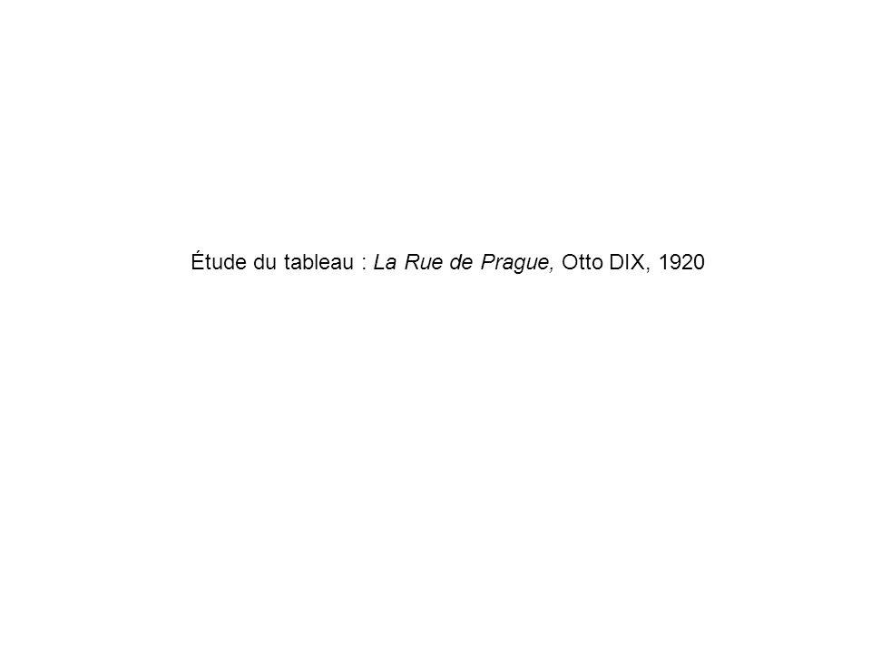 Étude du tableau : La Rue de Prague, Otto DIX, 1920