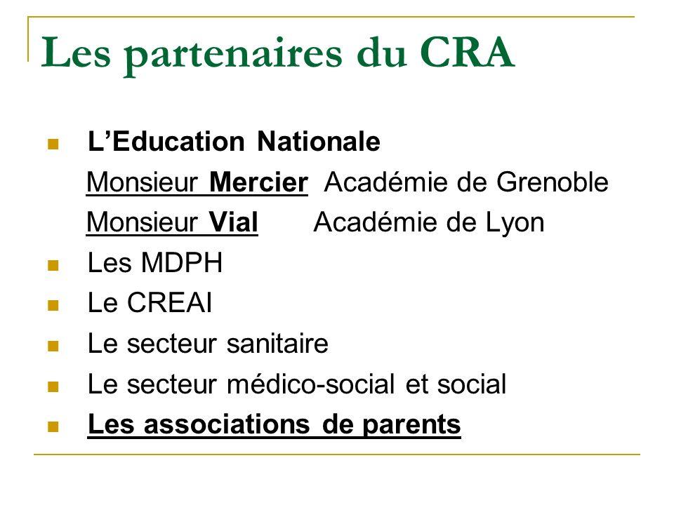 Les partenaires du CRA L'Education Nationale
