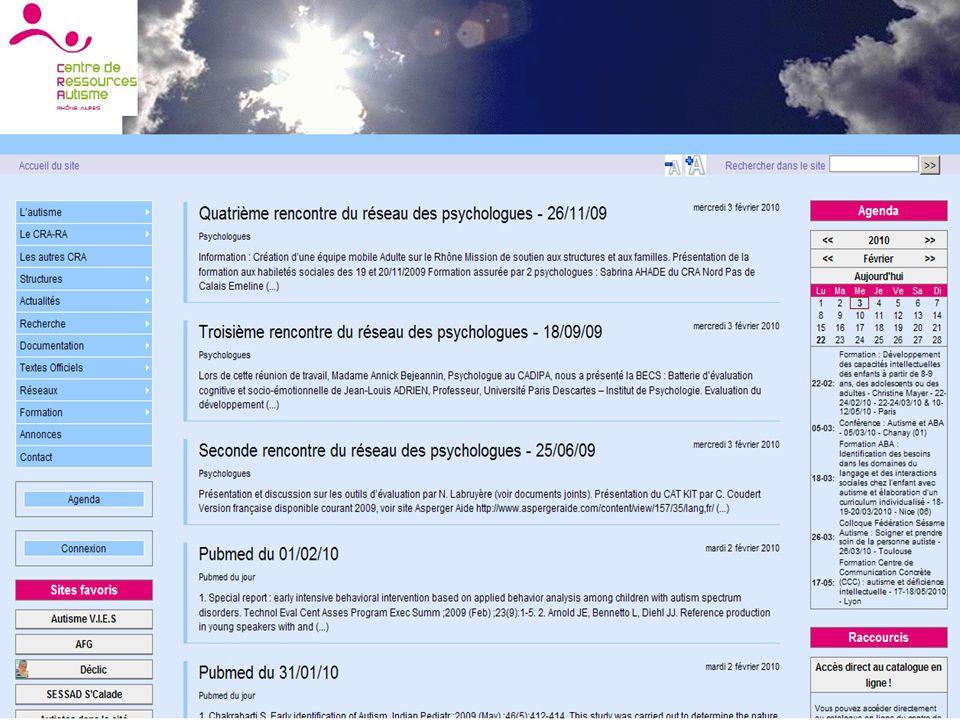 Site web du CRA Rhône-Alpes