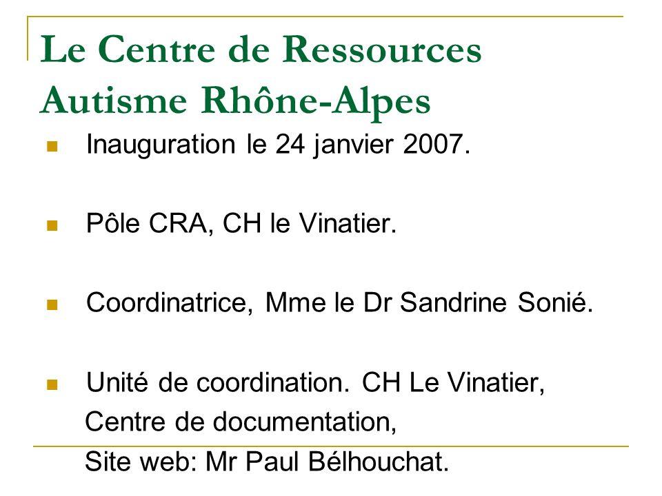 Le Centre de Ressources Autisme Rhône-Alpes
