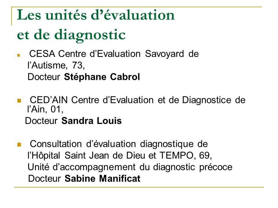 Les unités d'évaluation et de diagnostic