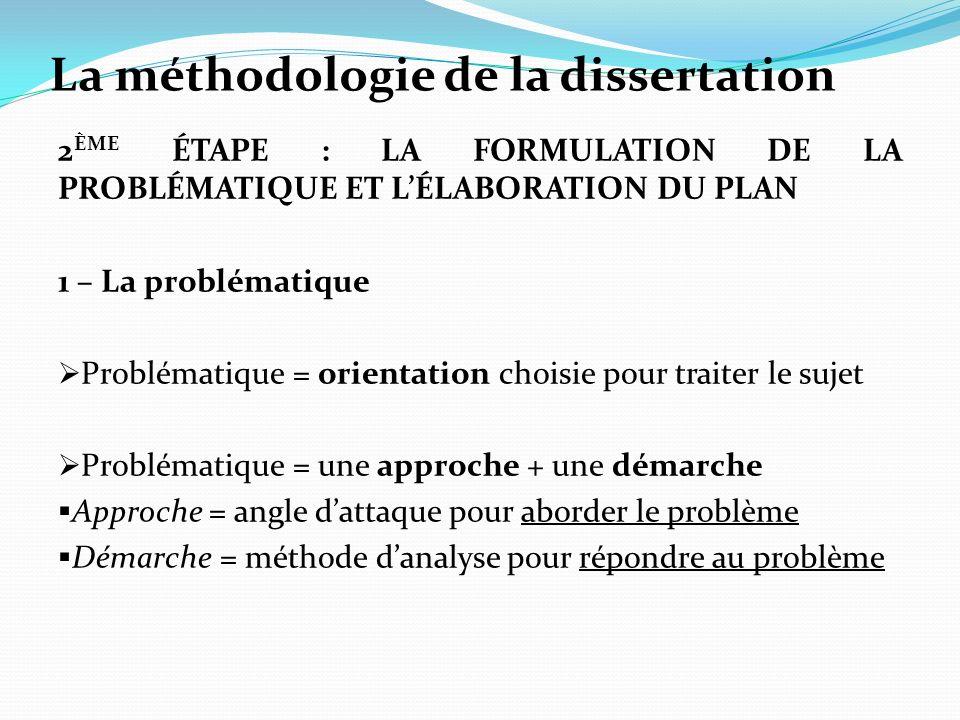 dissertation plan analytique méthode