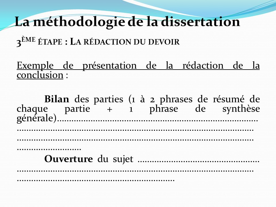 exemple dissertation philosophie science Methode de la dissertation de philosophie en terminale science & tech science tech health & fitness le savoir exclut-il toute par exemple.