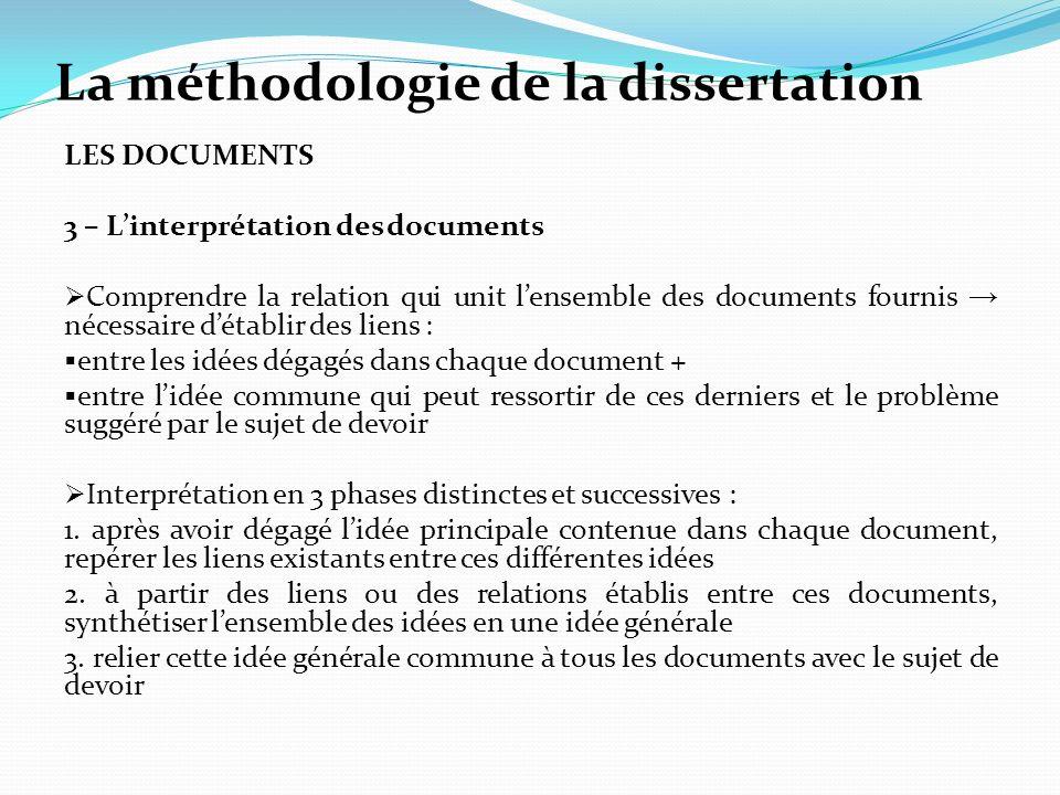 La méthodologie de la dissertation