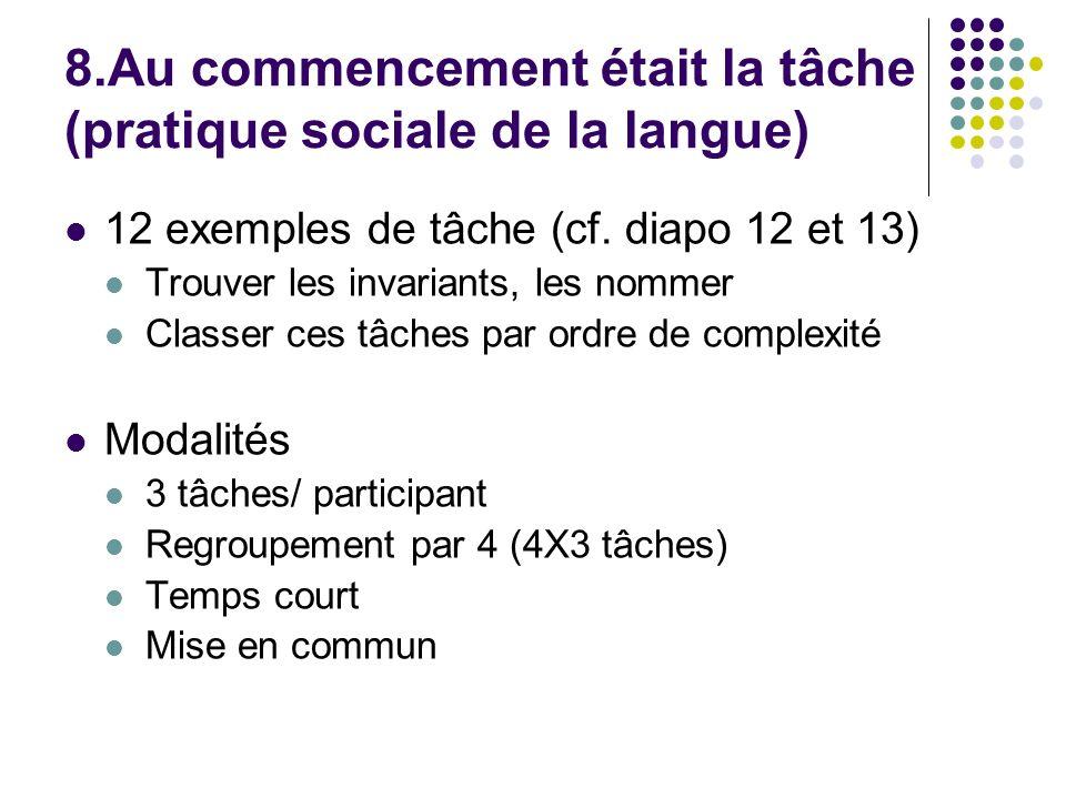 8.Au commencement était la tâche (pratique sociale de la langue)