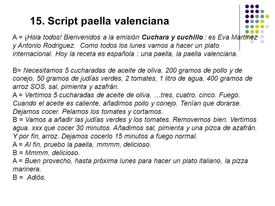 15. Script paella valenciana
