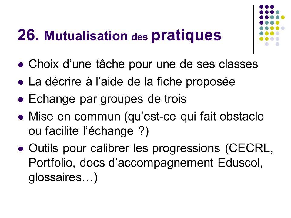 26. Mutualisation des pratiques