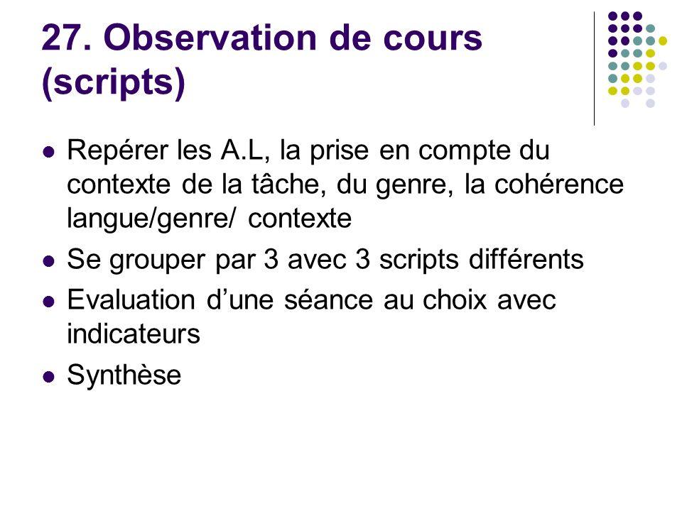 27. Observation de cours (scripts)