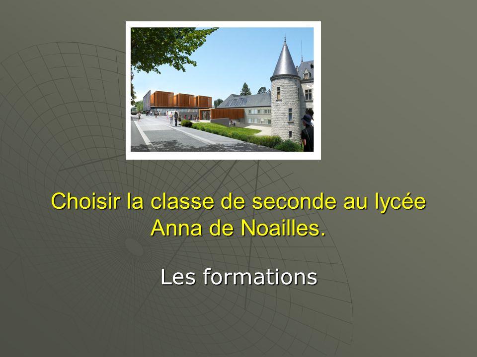 Choisir la classe de seconde au lycée Anna de Noailles.