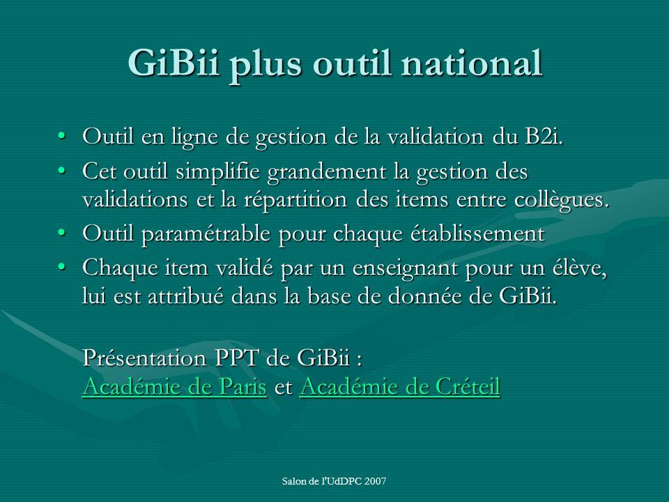 GiBii plus outil national