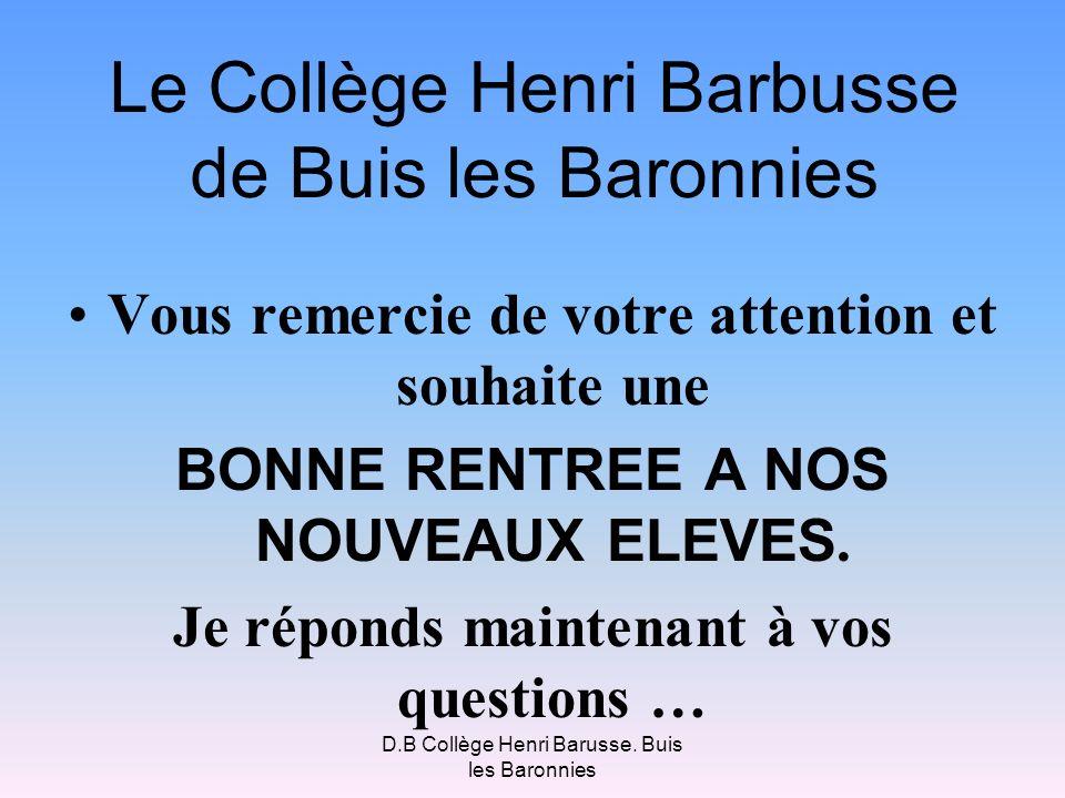 Le Collège Henri Barbusse de Buis les Baronnies