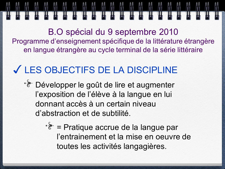 B.O spécial du 9 septembre 2010