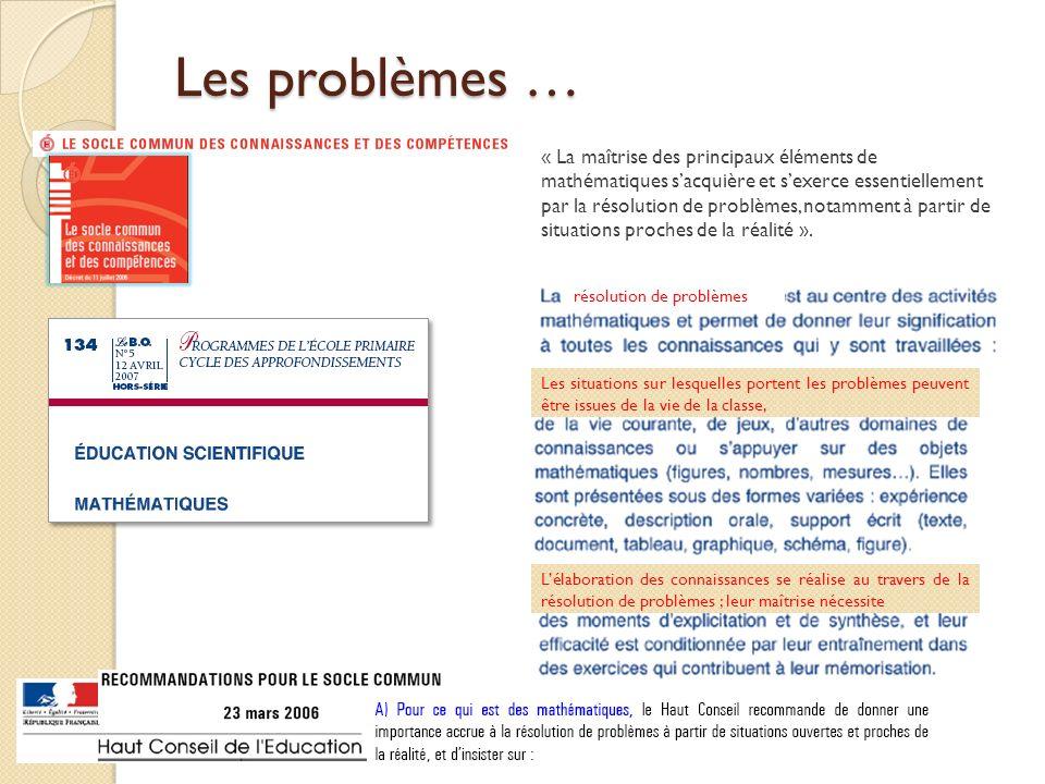 Les problèmes …
