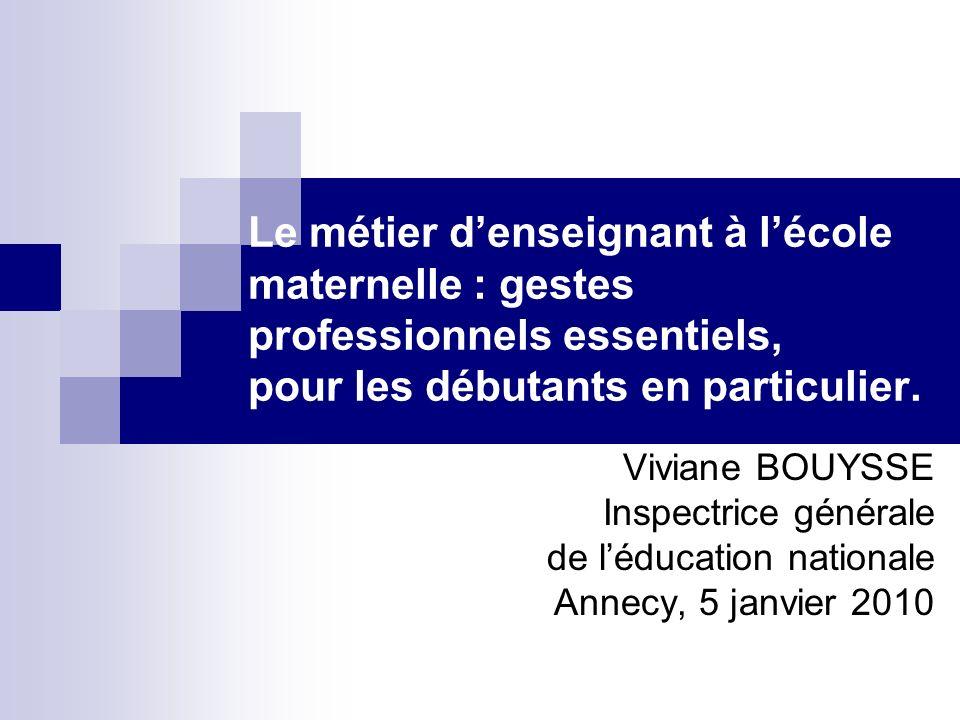 Le métier d'enseignant à l'école maternelle : gestes professionnels essentiels, pour les débutants en particulier.