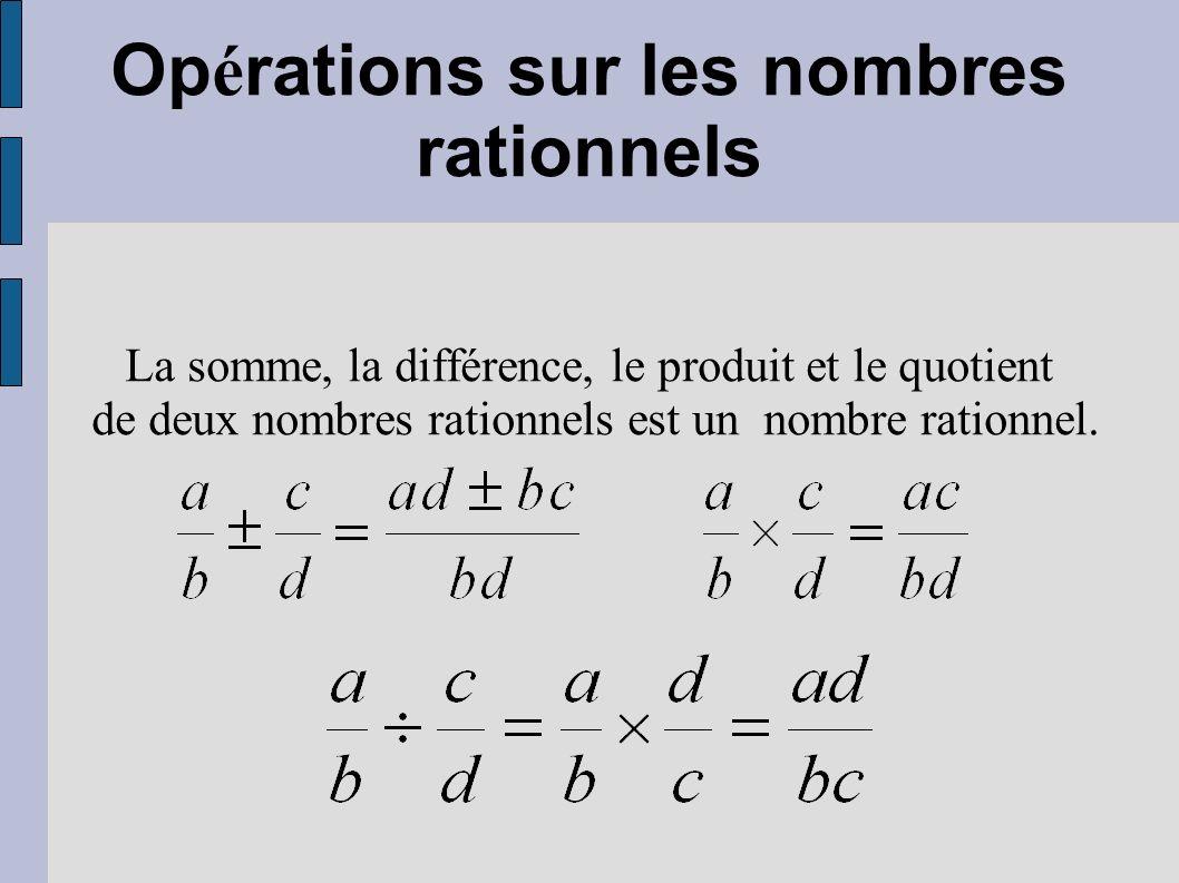 Opérations sur les nombres rationnels