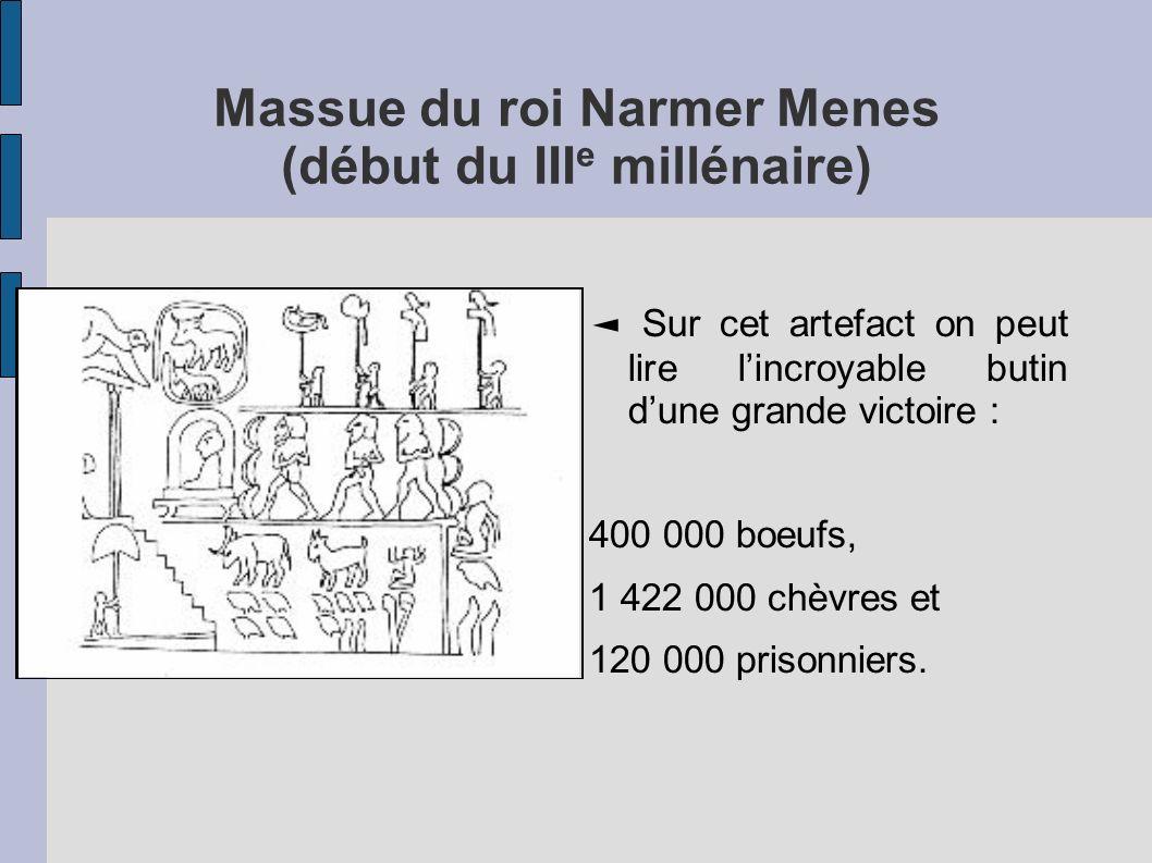 Massue du roi Narmer Menes (début du IIIe millénaire)