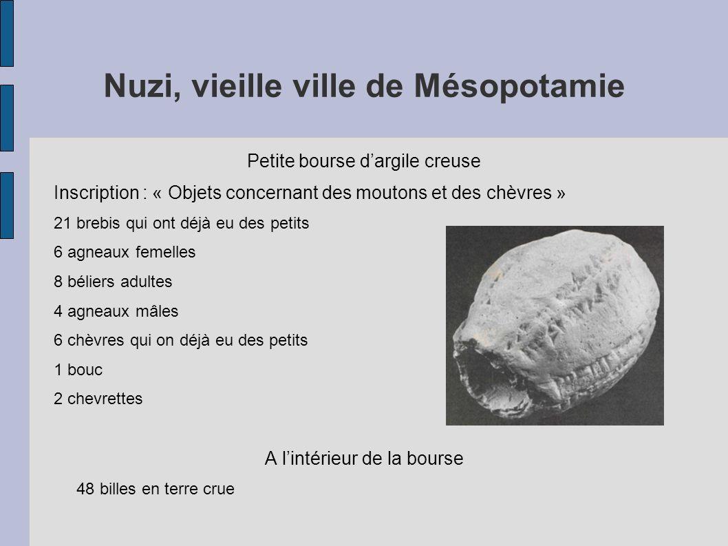 Nuzi, vieille ville de Mésopotamie