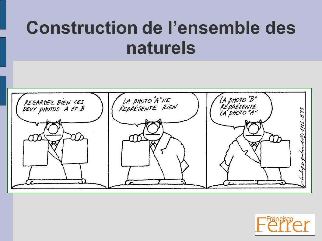 Construction de l'ensemble des naturels